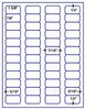 "US3840 - 48 up - 1 5/8'' x 7/8'' label on a 8 1/2"" x 11"" inkjet or laser label sheet. - uslabel.net - The Label Resource Center"