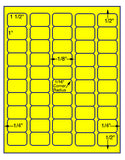 "US3859-1 1/2''x1'' - 50 up on a 8 1/2""x11"" label sheet"