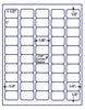 "US3859 50 up 1 1/2'' x 1'' UPC bar code label with RC on a 8 1/2"" x 11"" label sheet. - uslabel.net - The Label Resource Center"