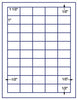 "US3860 - 50 up - 1 1/2'' x 1''UPC bar code label on a 8 1/2"" x 11"" inkjet or laser label sheet."