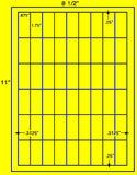 "US3870-1.75""x.875''-54 up on a 8 1/2"" x 11"" label sheet."