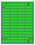 "US3880-2''x3/4''-56 up on a 8 1/2"" x 11"" label sheet."