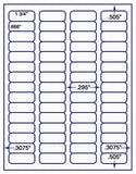 "US3884-1 3/4''x2/3''-60 up on 8 1/2""x11"" label sheet."