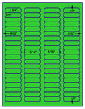 "US3900-1 3/4''x1/2''- 80 up #5167 on 8 1/2""x11""label sheet."