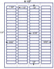 "US3920 - 1 3/4'' x 1/2''- Brand Name Comparable 5167 label on a 8 1/2""  x 11"" label sheet."