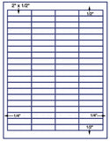 "US3941-2''x1/2''-80 up on a 8 1/2"" x 11"" label sheet."