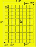 "US3944-.875''x.875''-88 up sq on a 8 1/2""x11"" label sheet."