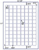 "US3944 - .875'' x .875'' - 88 up square labels on a 8 1/2"" x 11"" Inkjet or Laser label sheet. - uslabel.net - The Label Resource Center"