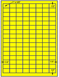 "US3960 -1''x5/8''- 128 up on a 81/2""x11"" label sheet."