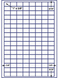 "US3980-1''x5/8''-136 up on a 8 1/2""x11"" label sheet."