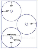 "US4068-4 11/16''-3 up DVD on a 8 1/2""x 11"" label sheet."