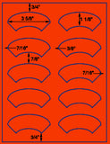 "US4140-3 5/8''x1 1/8'' arch on a 8 1/2"" x 11"" label sheet."