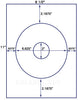 "US4150 - 6.625'' circle with 2"" center hole label on a 8 1/2"" x 11"" inkjet or laser label sheet. - uslabel.net - The Label Resource Center"
