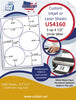 "US4160- 4 1/2'' - 3 up circle label on a 8 1/2"" x 11"" inkjet or laser label sheet. - uslabel.net - The Label Resource Center"