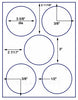 "US4172 - 3 5/8'' Circle 5 up label on a 8 1/2"" x 11"" inkjet or laser label sheet. - uslabel.net - The Label Resource Center"