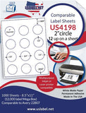 "US4198 - 2"" circle for full bleed on a 8.5"" x 11"" sheet."