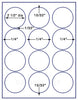 "US4200 - 2 1/2'' Brand Name Comparable 5294 Circle label on a 8 1/2"" x 11"" label sheet."