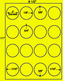 "US4215-2'' Circle 16 up on a 8 1/2""x11"" label sheet."