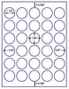 "US4279 - 1 1/2'' Circle 30 up label on a 8 1/2"" x 11"" inkjet or laser sheet. - uslabel.net - The Label Resource Center"