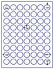 "US4300 - 1'' circle label 63 up labels on a 8 1/2"" x 11"" inkjet or laser sheet. - uslabel.net - The Label Resource Center"