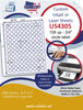 "US4305 - 108 up - 3/4'' circle labels on a 8 1/2"" x 11"" inkjet or laser sheet."