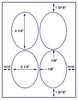 "US4315 - 3 1/4'' x 4 1/4''- 4 up oval  on a 8 1/2"" x 11"" label sheet"