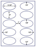 "US4320-3 1/4''x 2''Oval 10 up on a 8 1/2""x11"" label sheet."