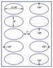 "US4320 - 3 1/4'' x 2'' Oval 10 up  on a 8 1/2"" x 11"" label sheet"