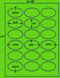 "US4322-2.5''x1.5''Oval 18 up on a 8 1/2"" x11""label sheet."