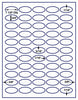"US4425 -  55 up 1 1/2'' x 3/4'' Oval label on a 8 1/2"" x 11"" inkjet or laser sheet. - uslabel.net - The Label Resource Center"