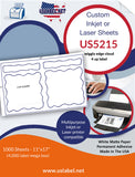 US5215 - wiggly edge - 4 up label on a 11'' x 17'' sheet