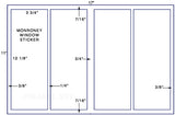 "US5222M - 4 up 3 3/4"" x 10 1/8"" Monroney label 11 x 17 sheet"