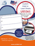 US5361 - 17'' x 4 1/8'' and 2 sizes on a 11'' x 17'' sheet