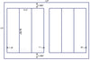 US5363 - 2.5'' x 8.75'' - 6 up label on a 11'' x 17'' label sheet