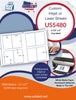 US5480 - 3 1/2'' x 5'' - 8 up label on a 11'' x 17'' sheet - 8,000 labels. - uslabel.net - The Label Resource Center