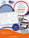US6041 - 2 3/4'' x 1 13/16'' - 20 up label on a 11'' x 17'' sheet 20,000 labels.      Edit