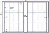 US7042 - 1.75'' x 3.5'' - 24 up label on a 11'' x 17'' sheet.