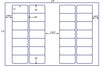 US7161 - 3'' x 1.5'' - 28 up label on a 11'' x 17'' laser sheet.