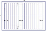 "US7390D- 36 up - 5.375"" x .875"" label on a 12'' x 18'' label sheet."