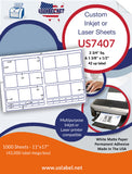 US7407-2 3/4'' Sq.-1 3/8'' x 1/2''-42 up on a 11''x17'' laser sheet.