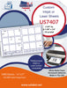US7407-2 3/4'' Sq.-1 3/8'' x 1/2''-42 up on a 11''x17'' laser sheet. - uslabel.net - The Label Resource Center