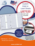 US7520 - 3 1/2'' x 3/4'' - 48 up label on a 11'' x 17'' laser sheet.