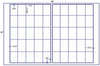 "US7545D- 50 up - 1.5"" x 2.125"" label on a 12'' x 18'' label sheet."