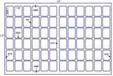 US7706 -1.625'' x 1.25'' - 72 up label on a 11'' x 17'' laser sheet.