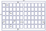 US7716 - 1.25'' x 1.625'' - 72 up label on a 11'' x 17'' laser sheet