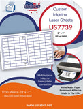 US7739 - 2'' x 1'' - 80 up label on a 11'' x 17'' laser sheet