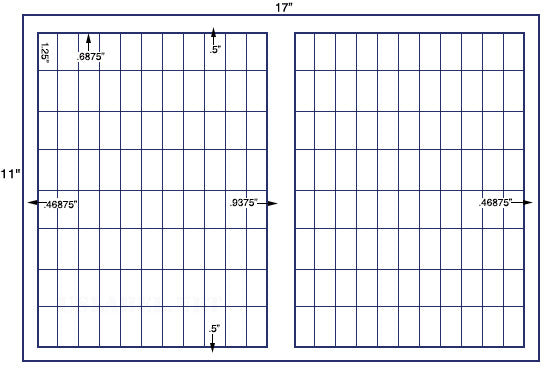 US7745A - 1.25'' x .6875'' - 176 up on a 11'' x 17'' label sheet.