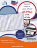 US7960 - 1'' x 5/8'' Price Label-254 up on a 11'' x 17'' laser sheet. - uslabel.net - The Label Resource Center