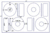 US8065-4 5/8'' CD/DVD Diam. Kit - 4 up label  on a 11'' x 17'' laser sheet