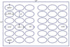 US8322 - 2.5'' x 1.5'' Oval 36 up label on a 11'' x 17'' laser sheet. - uslabel.net - The Label Resource Center